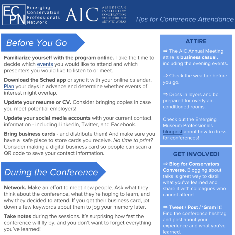 ECPN Conference Attendance Tips Sheet